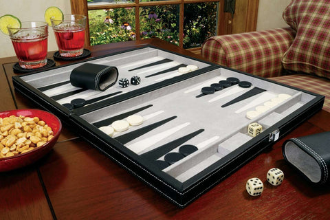 "Mainstreet Classics Classic 15"" Backgammon Set 55-0619-Mainstreet Classics-Air Hockey Table Zone"