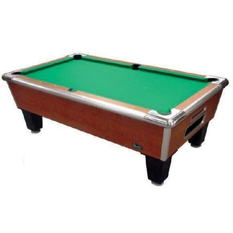 Image of Shelti Bayside Pool Table in Sovereign Cherry Finish