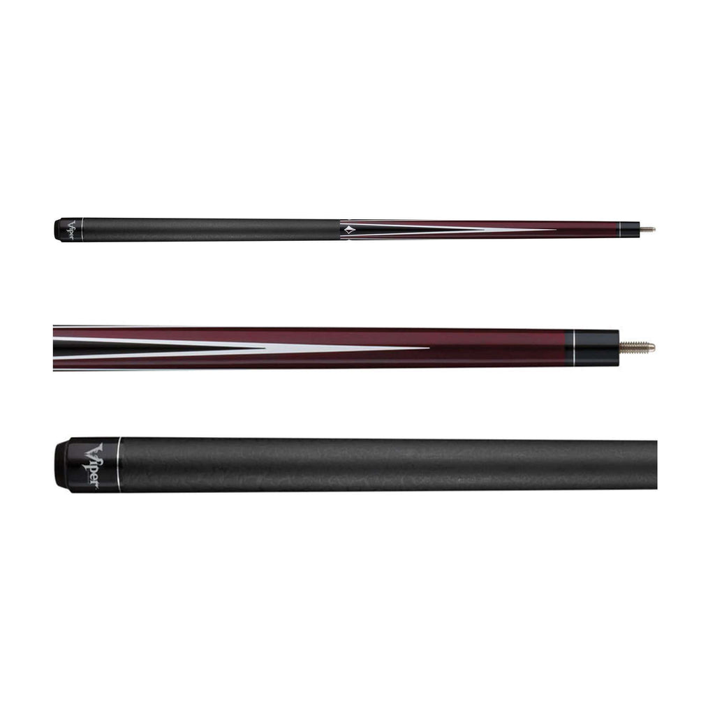 Viper Diamond Billiard Cue Burgundy Stain 50-0912-Viper-The Rec Room Game Company