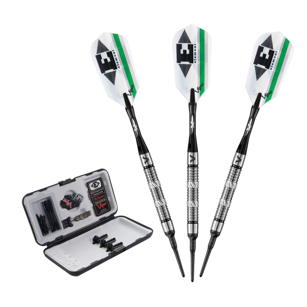 Viper Element Tungsten Soft Tip Darts Grooved Barrel 18 Grams-Viper-The Rec Room Game Company