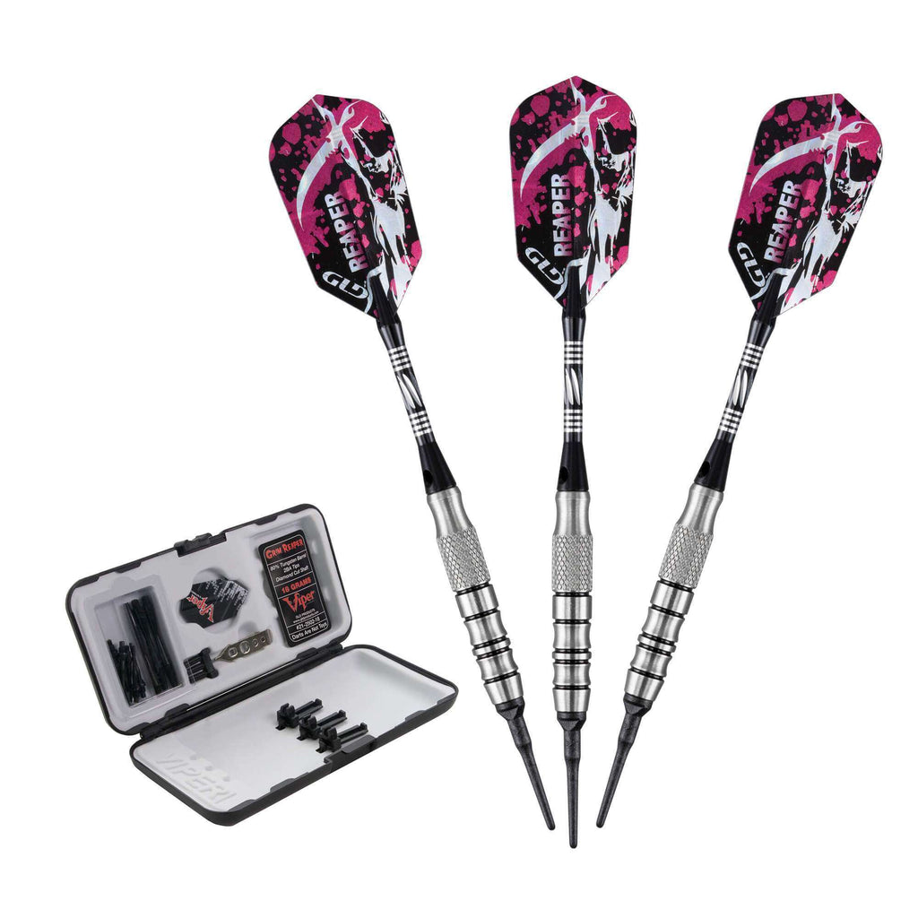 Viper Grim Reaper Tungsten Soft Tip Darts Grooved Barrel 18 Grams 21-2502-18-Viper-The Rec Room Game Company