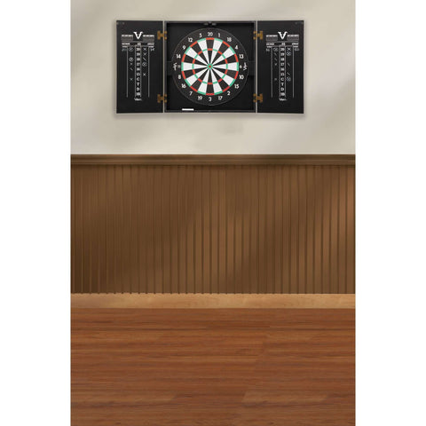 Viper Hideaway Dartboard Cabinet with Reversible Traditional and Baseball Dartboard-Viper-Air Hockey Table Zone