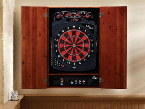 Image of Viper Metropolitan Cinnamon Soft Tip Dartboard Cabinet 40-0404-Viper-The Rec Room Game Company
