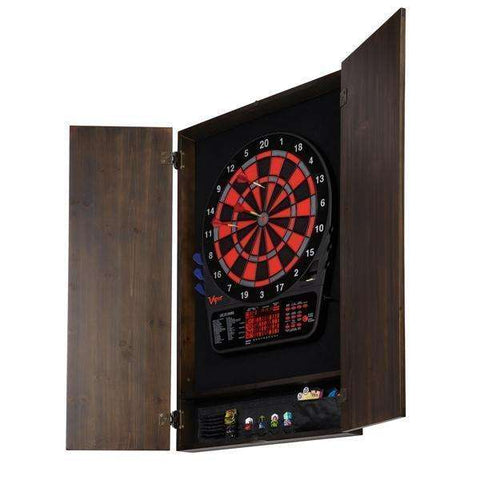 Viper Metropolitan Espresso Soft Tip Dartboard Cabinet 40-0401-Viper-Air Hockey Table Zone