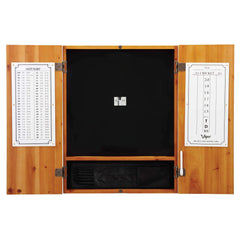 Viper Metropolitan Oak Steel Tip Dartboard Cabinet 40-0402-Viper-Air Hockey Table Zone