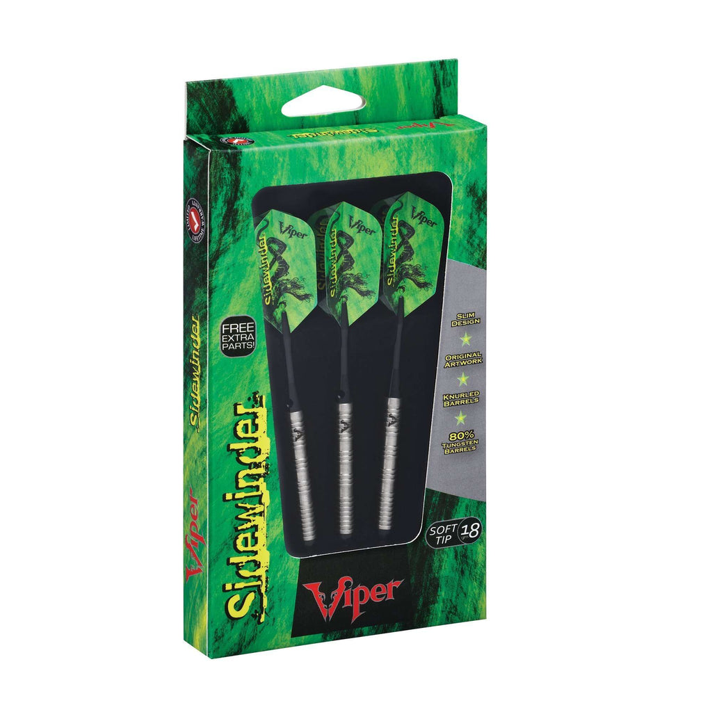 Viper Sidewinder Tungsten Soft Tip Darts Shark Fin Barrel 18G-Viper-The Rec Room Game Company