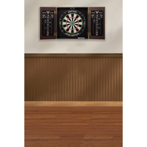 Viper Stadium Dartboard Cabinet with Shot King Sisal Dartboard 40-0376-Viper-Air Hockey Table Zone