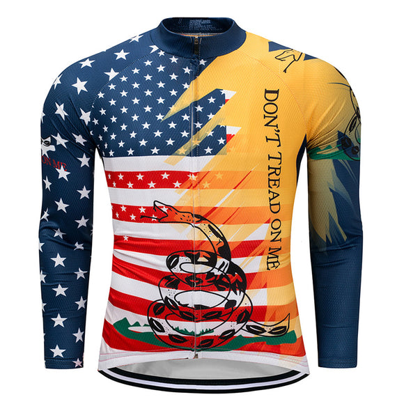 Snake USA Autumn Long Sleeve Breathable Cycling Jersey