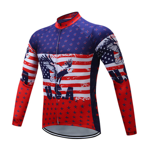 Hawk USA Autumn Long Sleeve Breathable Cycling Jersey