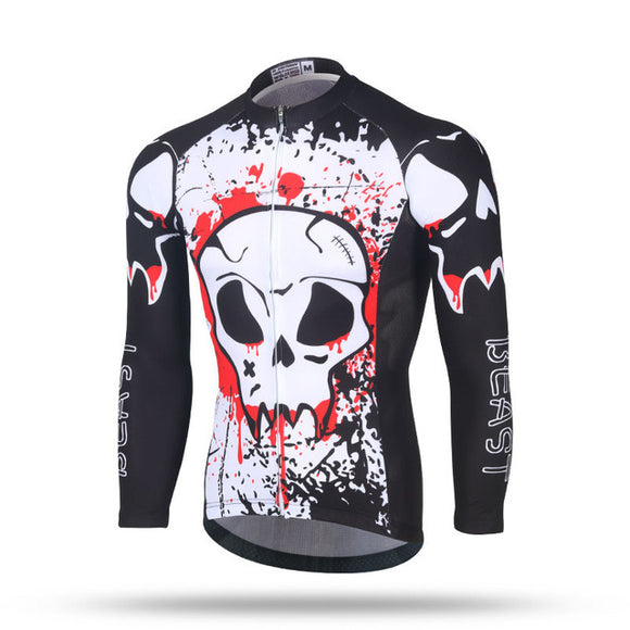 Red Skull Mens Cycling Jersey