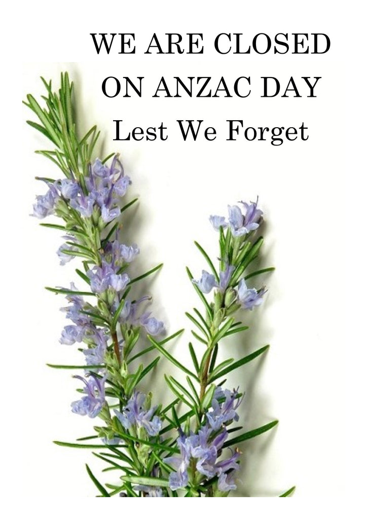 Anzac Day Closed