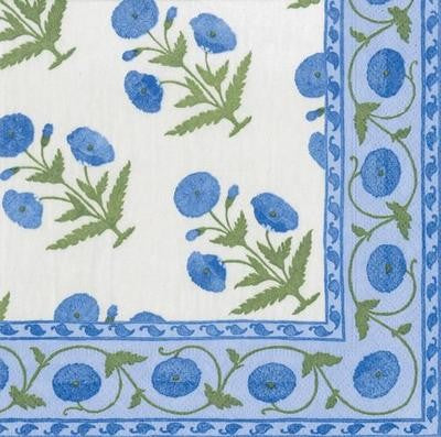 LUNCH NAPKINS INDIAN POPPY BLUE