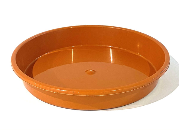 PLASTIC SAUCER 400MM TERRACOTTA