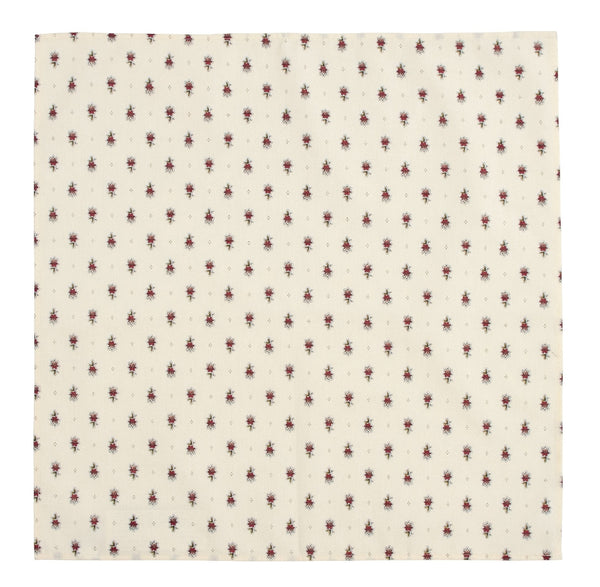 NAPKIN AVIGNON ECRU AND RED SET/6 45X45CM