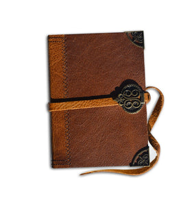 LEATHER JOURNAL TAN & BROWN