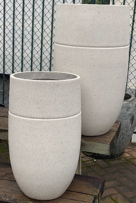 TURNER U POT MEDIUM WHITE TERRAZZO