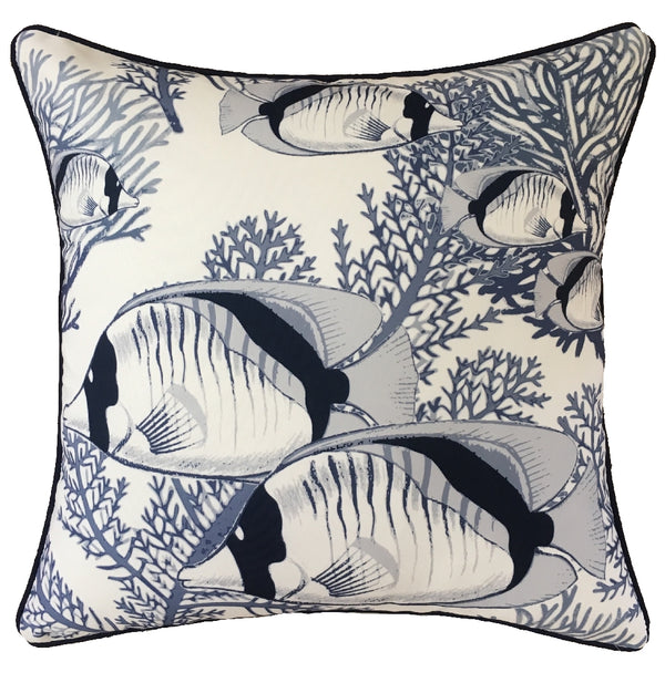 OUTDOOR CUSHION CORAL COVE WHITE 45X45CM
