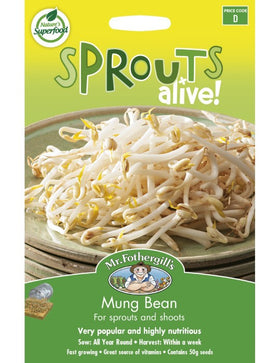 MUNG BEANS - SPROUTS ALIVE