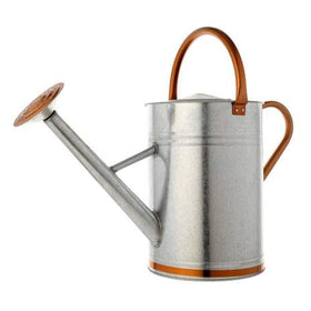 MOULTON MILL WATERING CAN 9L GALVANISED STEEL WITH COPPER TRIM