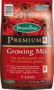 PREMIUM GROWING MIX 5 LITRE (BRU)