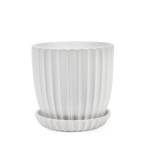 RIDGE POT 17CM MATT WHITE