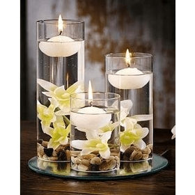 FLOATING CANDLE WHITE 4.2X2.4CM PACK OF 6
