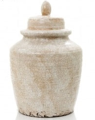 CERAMIC JAR WITH LID LATTE