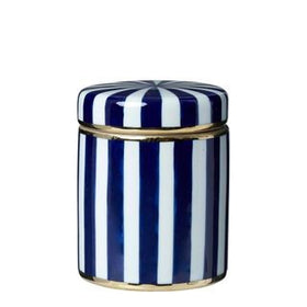 PARIS STRIPE JAR BLUE SMALL