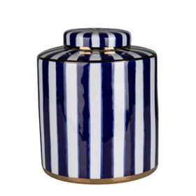 PARIS STRIPE JAR BLUE LARGE