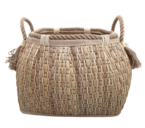 TASSLED BASKET - LARGE