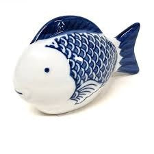 FLOATING BLUE AND WHITE FISH LARGE