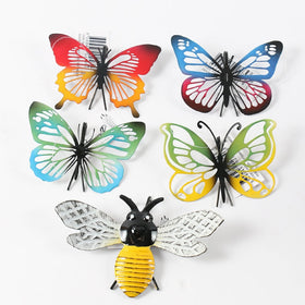 BUTTERFLY POT HANGER RED & YELLOW