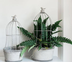 BIRD PLANTER CAGE - LARGE