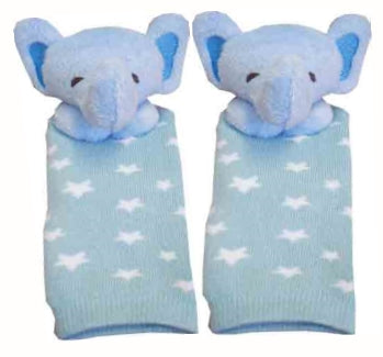 Eq New Born Baby Socks With Rattle