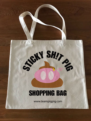 STICKY SH!T PIG TOTE BAG -Large