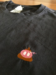 The Classic Sticky Shit Pig Round Neck - Navy Blue