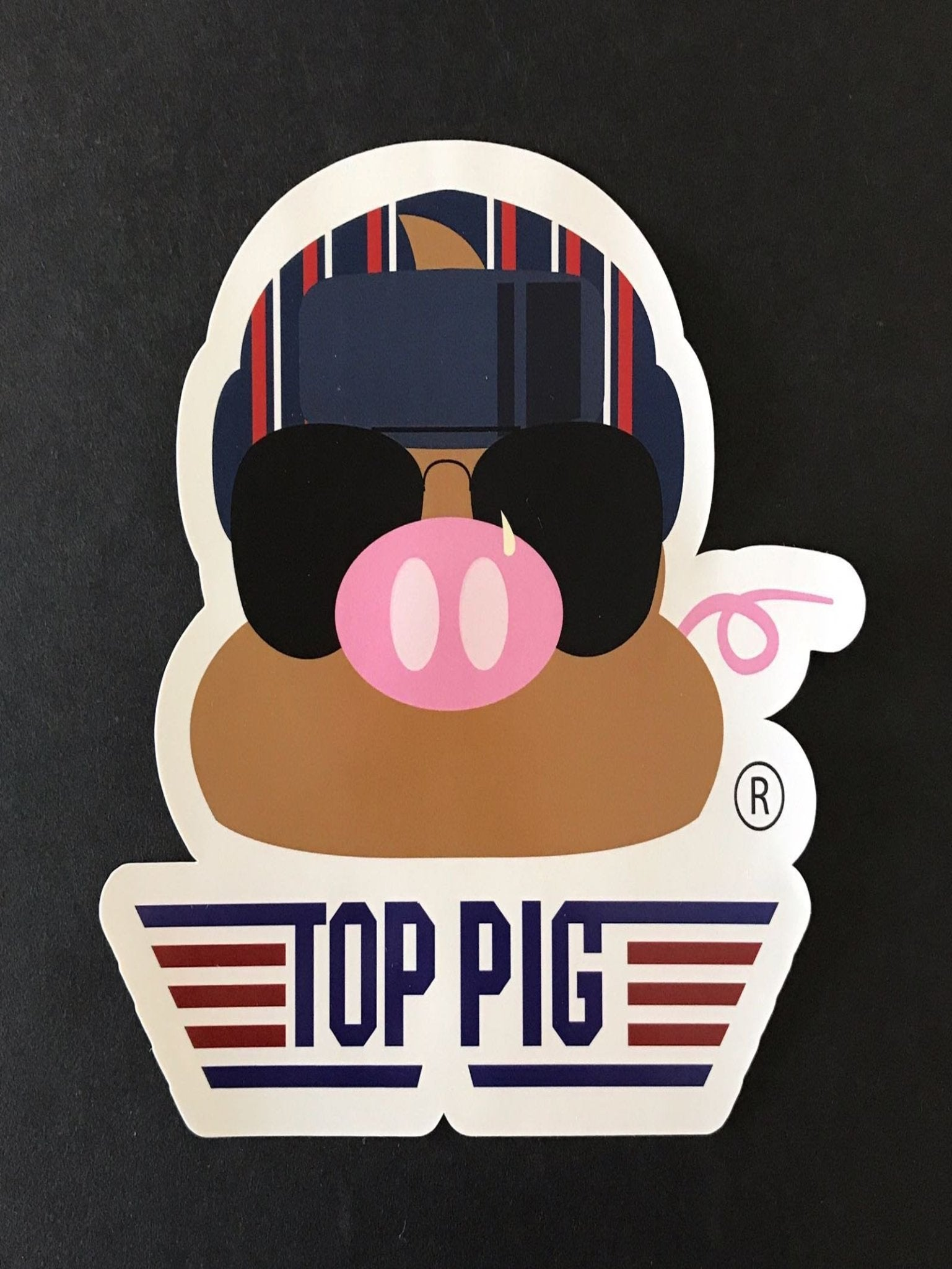 The Top Pig Sticker