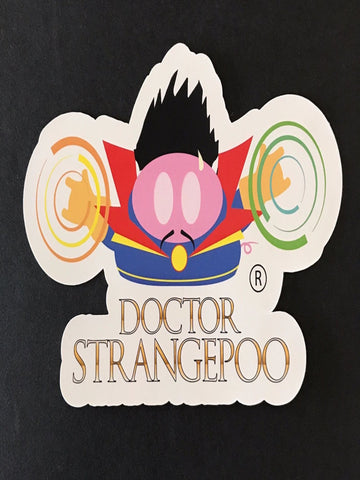 The Doctor StrangePoo Sticker