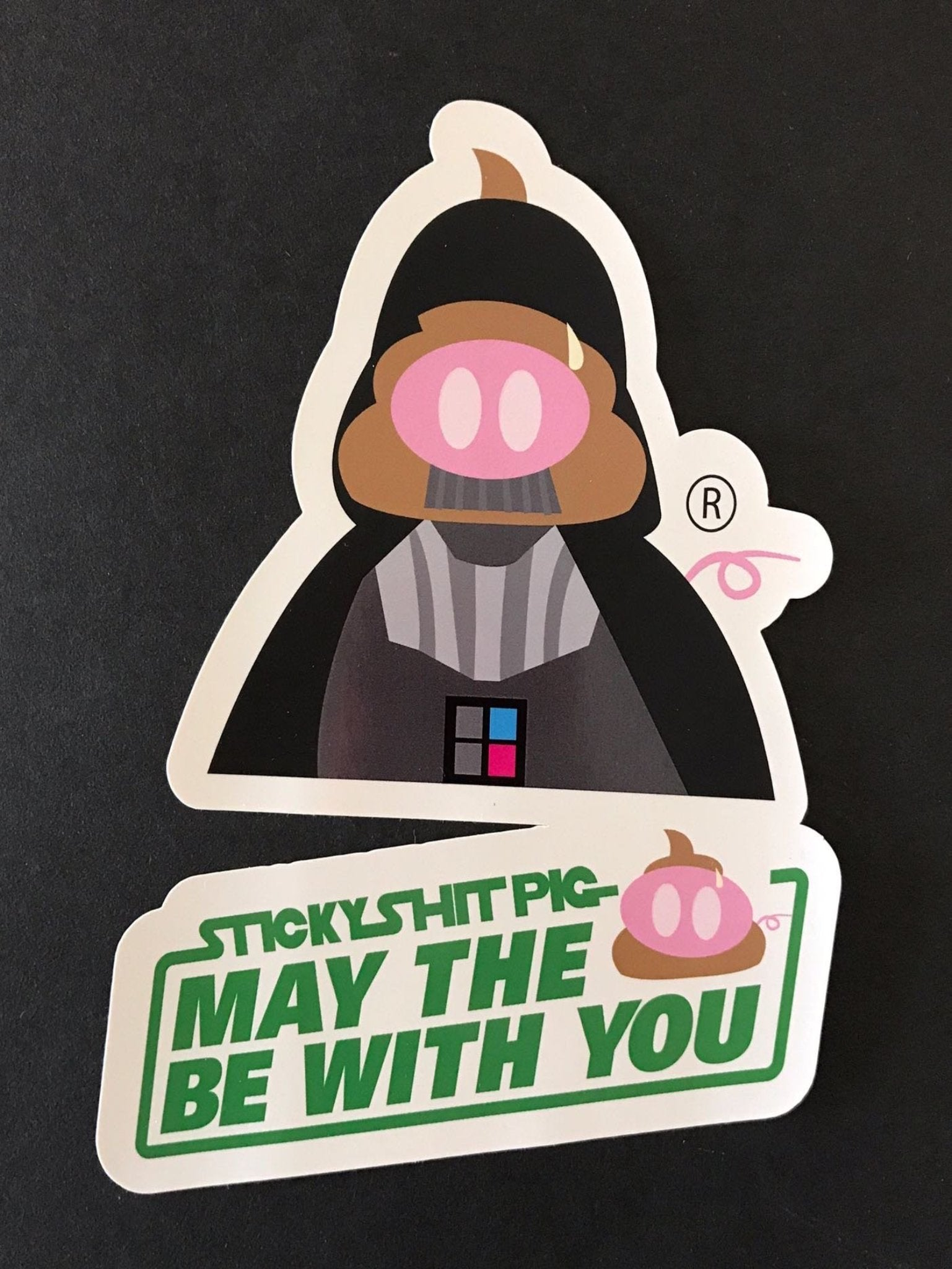 The Darth Pig Sticker