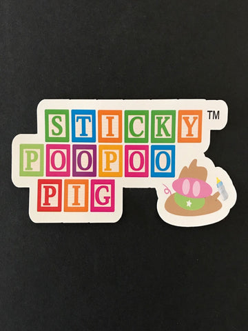 The Sticky PooPoo Pig Sticker