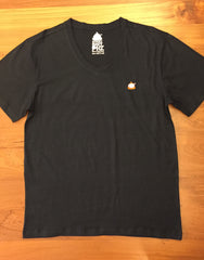 The Classic Sticky Shit Pig V Neck - Black