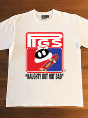"STICKYSH!TPIG SB ""NAUGHTY BUT NOT BAD!"" - Adults T-Shirt"
