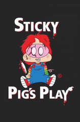 STICKY PIG'S PLAY (small logo) - Adults T-Shirt