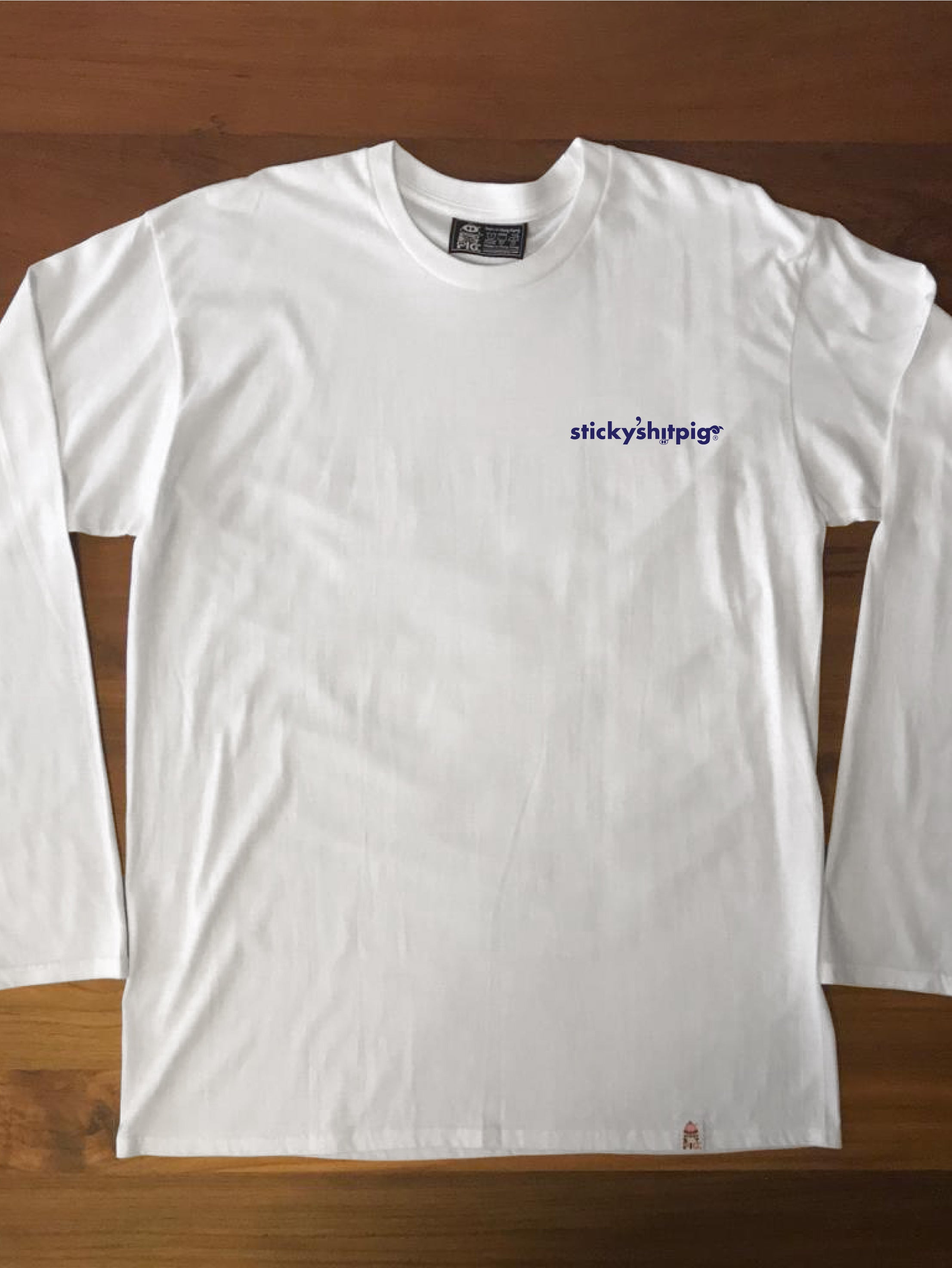 SSP SMALL LOGO (WHITE) - Adults Long Sleeve Tee