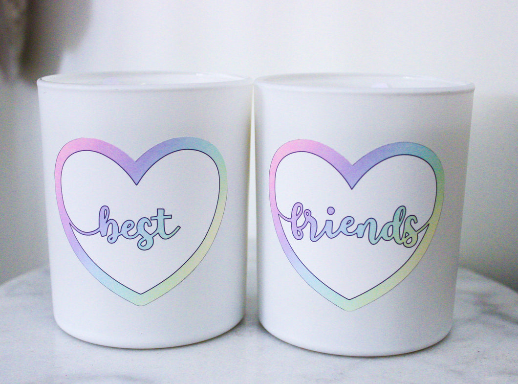 Best Friends Duo Candles (Rainbow/White)