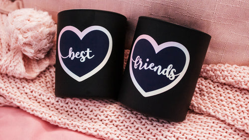 Best Friend Duo Candles (Rainbow/Black)
