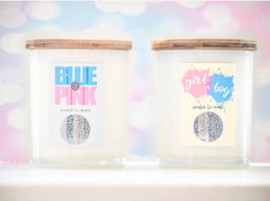 Gender SCRATCH & REVEAL Candles