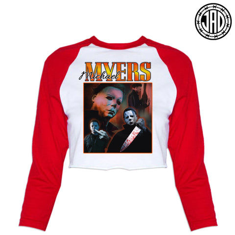 90's Mike - Women's Cropped Baseball Tee