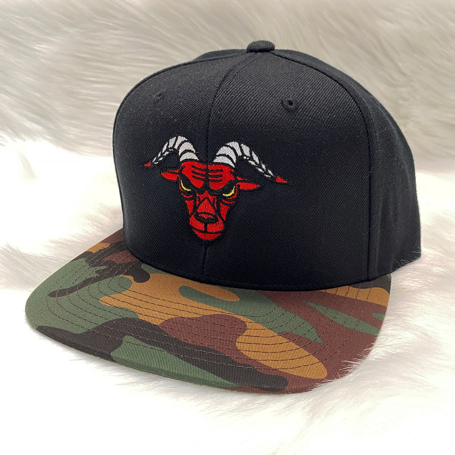 GOATS - Black/Camo Bill - Hat
