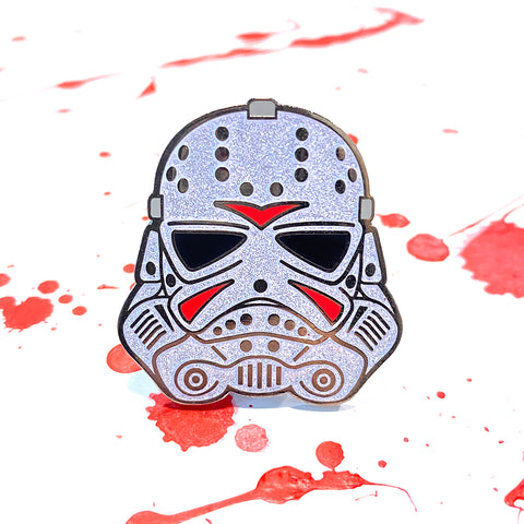 Trooper Jason - White Glitter - Enamel Pins